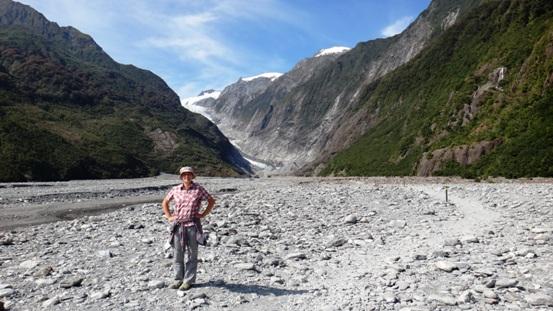 Útban a Franz Josef gleccserhez