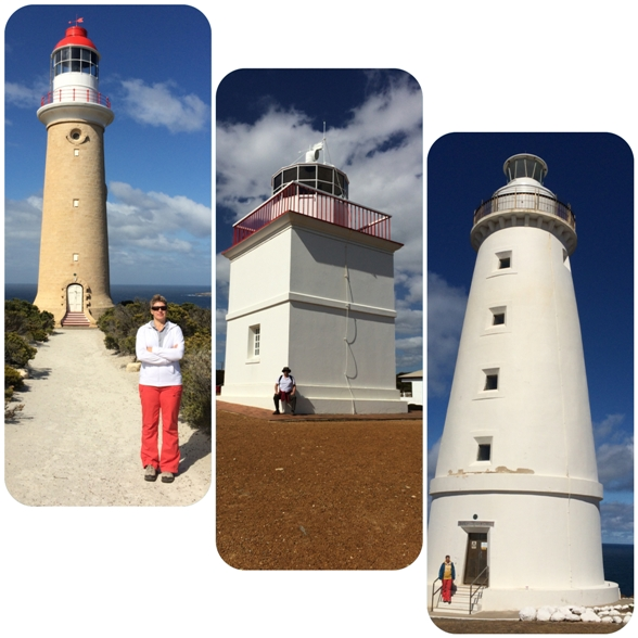 A három világítótorony:  Cape Du Couedic, Cape Borda, Cape Willoughby