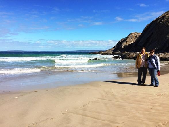 Ildi és én a Blowhole Beach-en