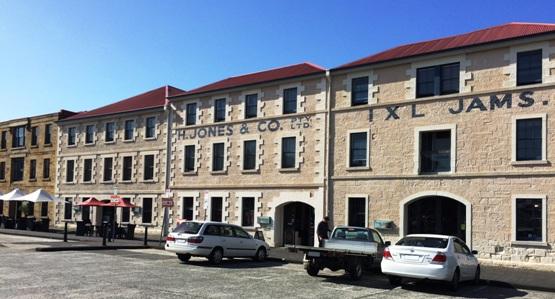 Hobart, kikötői épületek