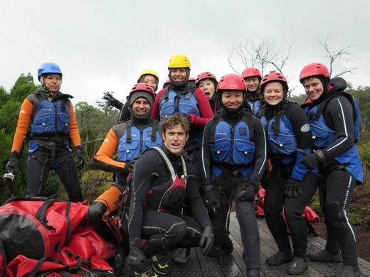 a kanyon túra csoportképe