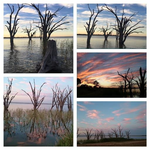 Naplemente a Bonney-tó partján