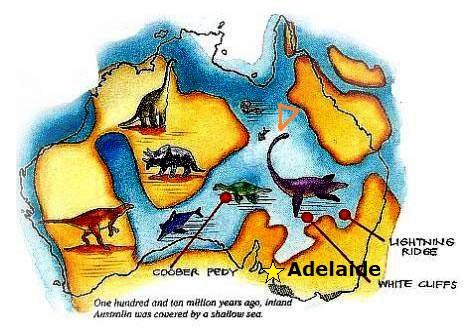 A 100 millió évvel ezelőtti beltenger mérete