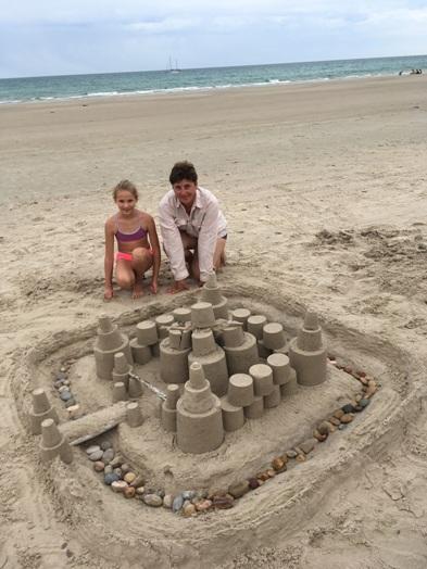 Az egyik homokvárunk
